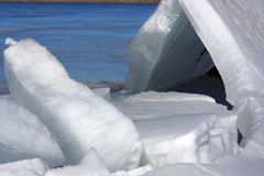 Hielo del lago Imágenes de archivo libres de regalías
