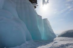 Hielo del lago Baikal imagenes de archivo