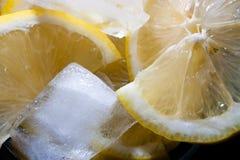 Hielo del limón Imagen de archivo libre de regalías