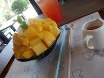 Hielo del mango Foto de archivo libre de regalías