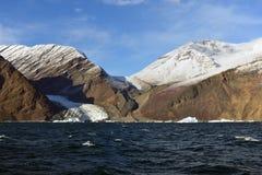 Hielo del retratamiento, glaciares de Greeland Imagen de archivo