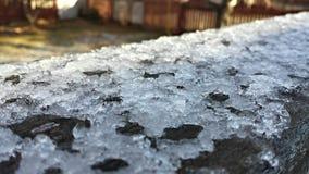 Hielo después de la primera nieve Imagenes de archivo