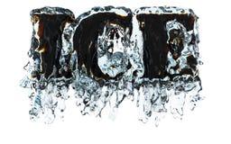 Hielo en agua Imagenes de archivo