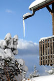Hielo en el balcón Fotos de archivo