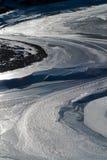 Hielo en el lago Imagen de archivo
