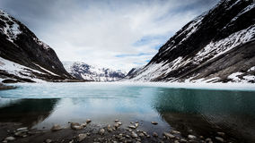 Hielo en el lago Fotografía de archivo