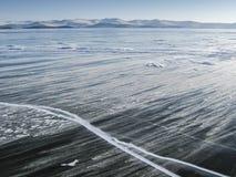 Hielo en el lago Baikal Imagen de archivo libre de regalías