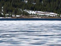 Hielo en el lago Tenaya Imagen de archivo libre de regalías