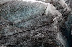 Hielo en glaciar negro Fotos de archivo