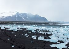 Hielo en la playa fotografía de archivo
