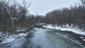 Hielo frío de la nieve del invierno de la cala del blacklick Foto de archivo
