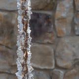 Hielo grueso en cadena de la lluvia Imagen de archivo libre de regalías