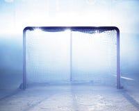 Hielo-hockey de la meta Fotografía de archivo libre de regalías