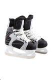Hielo-patines aislados en blanco. Fotografía de archivo