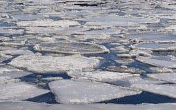 Hielo que flota en un lago Fotografía de archivo