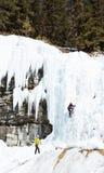 Hielo que sube en Banff Canadá Imagenes de archivo