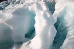 Hielo rugoso del glaciar foto de archivo libre de regalías