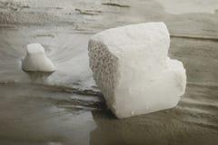 Hielo seco en fondo Foto de archivo libre de regalías