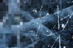 Hielo - textura Fotos de archivo