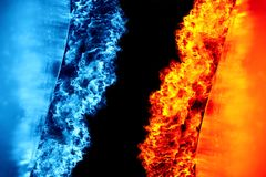 Hielo y fuego imagenes de archivo