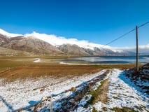 Hielo y montaña en invierno Imagen de archivo
