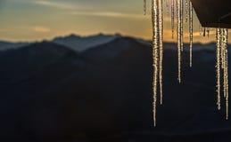 Hielo y montañas Fotos de archivo