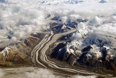 Hielo y montañas en Alaska foto de archivo libre de regalías