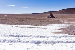 Hielo y rocas en reserva nacional de los flamencos del Los Imagenes de archivo