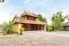 Hien Duc Gate no túmulo de Minh Mang - a cidade imperial da matiz, VIet Fotografia de Stock