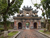 Vietnam, Hue. East entrance gates of the Imperial City royalty free stock images
