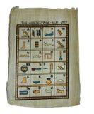 hieoglyphic alfabet royaltyfri foto