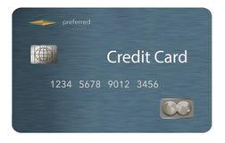 Hier is een creditcard met een eigentijds ontwerp dat op de achtergrond geïsoleerd is vector illustratie