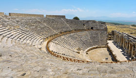 Hierapolis剧院废墟 免版税库存照片