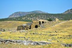 Hierapolis剧院废墟 图库摄影