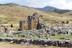 hierapolis废墟火鸡 库存图片
