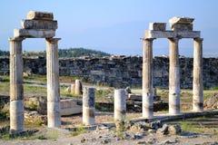 Hierapolis και Pamukkale, Τουρκία Στοκ εικόνα με δικαίωμα ελεύθερης χρήσης