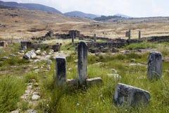 Hierapolis, Τουρκία Αρχαίοι τάφοι στη νεκρόπολη ΙΙ - ΧΙΧ αιώνας Στοκ Εικόνες