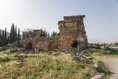 Hierapolis, Τουρκία Βόρεια ρωμαϊκά λουτρά, ΙΙ ΑΓΓΕΛΙΑ αιώνα Στοκ εικόνες με δικαίωμα ελεύθερης χρήσης