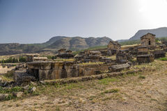 Hierapolis, Τουρκία Crypts της παλαιάς νεκρόπολη Στοκ φωτογραφίες με δικαίωμα ελεύθερης χρήσης