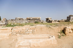 Hierapolis, Τουρκία Sarcophagi στη νεκρόπολη Στοκ εικόνα με δικαίωμα ελεύθερης χρήσης