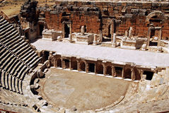 Hierapolis Am. The ruins of the roman theater in Hierapolis/Pamukkale, Turkey Stock Photos