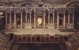 Hierapolis amfiteater Turkiet Royaltyfria Bilder