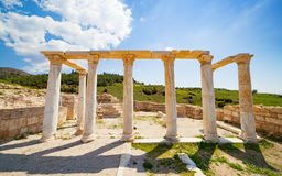 Hierapolis ancient city adjacent to modern Pamukkale in Turkey Stock Photography