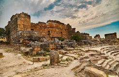 Hierapolis, ancient theater Stock Photos