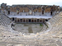 Hierapolis ancient theatre. Hierapolis was the ancient city on top of the famous Pamukkale hot springs located in south-western Turkey near Denizli Royalty Free Stock Photography