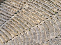 Hierapolis ancient theatre. Hierapolis was the ancient city on top of the famous Pamukkale hot springs located in south-western Turkey near Denizli Royalty Free Stock Image