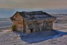 Hierapolis antiek graf in Pamukkale, Denizli, Turkije Royalty-vrije Stock Foto