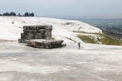 Hierapolis antique tomb in Pamukkale, Turkey Royalty Free Stock Photo