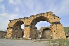 Hierapolis, Denizli, die Türkei Lizenzfreies Stockfoto