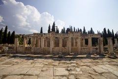 Hierapolis, die Türkei Alte Gräber im Friedhof II - Jahrhundert XIX Lizenzfreies Stockbild